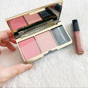 Brand New Estée Lauder 2-color Blush Lip Gloss Set
